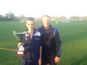 Niels Zijlstra en trainer Gaby Hemsens