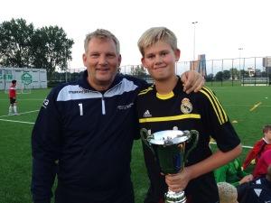 Trainer Gaby Hemsens en Joery Wijkstra