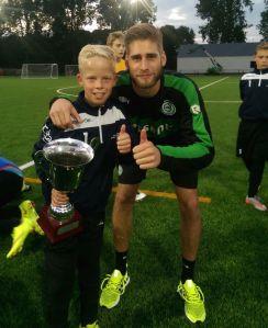 Owen van Dijk en trainer Stefan van der Lei