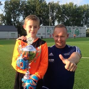 Walter van der Broek en trainer Sebastiaan Kooistra