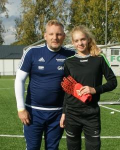 Sabine Keijzer en trainer Gaby Hemsens