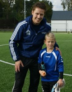 Casper Roelfsema en trainer Rick Hofkamp
