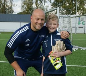 Robin Koster en trainer Jurgen Bruggink