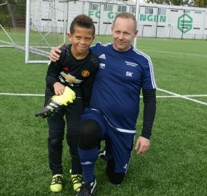 Aaron Wanki en trainer Sebastiaan Kooistra