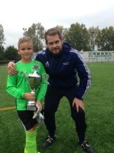 Joost Volmer en trainer Chris Weggemans