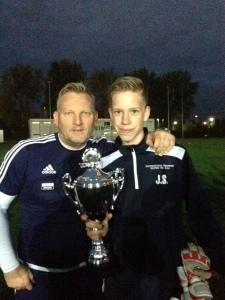 Jorik Smien en trainer Gaby Hemsens